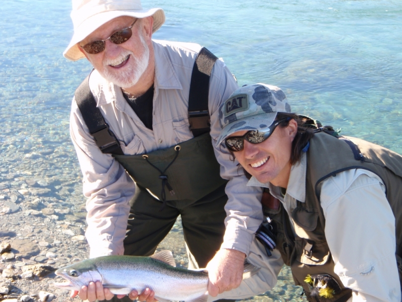 denis-catches-his-first-trout
