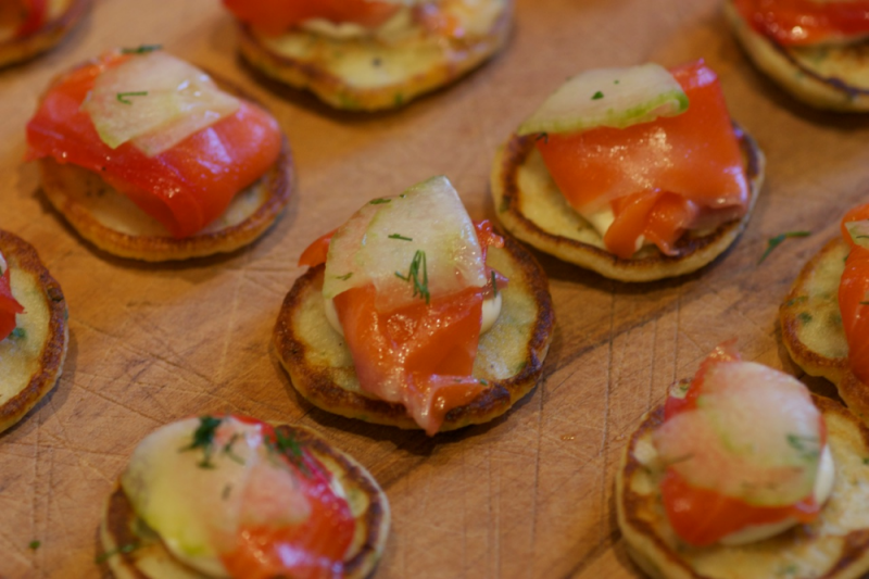 Smoked Salmon Blinis